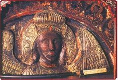 archangel michael of mandamado in greece Byzantine Icons, Archangel Michael, Christian Faith, Mona Lisa, Vintage World Maps, Spirituality, Statue, History, Artwork