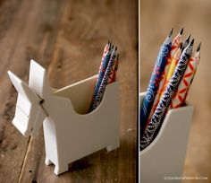 diy paper pencils. sweet.