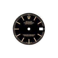 GENUINE ROLEX DATEJUST REF. 68273 BLACK INDEX + HANDS SET DIAL BRAND NEW NOS