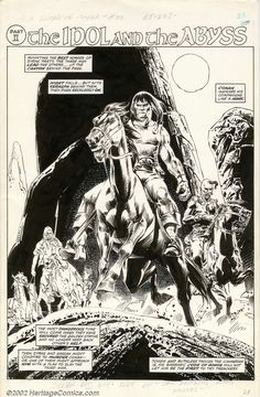 Savage Sword of Conan Page by John Buscema
