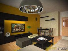 Návrh interiéru obývacej izby v 2 izbovom byte v Petržalke, Bratislava. Bratislava, Conference Room, Table, Furniture, Home Decor, Homemade Home Decor, Meeting Rooms, Mesas, Home Furnishings