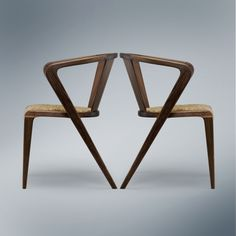 Portuguese Roots chairs by Alexandre Caldas, 1953 #modern