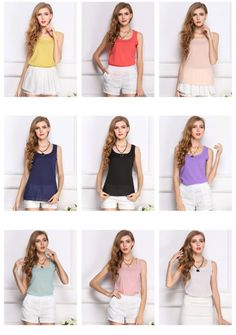 10 Colors Women Blouse Blusas Sexy Chiffon T-shirt Girl Summer Tank Top Clothing #Unbranded #Blouse #Casual
