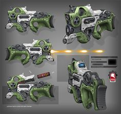 laser assault rifle, Kris Thaler on ArtStation at https://www.artstation.com/artwork/laser-assault-rifle