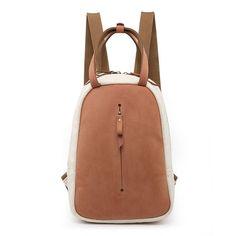 33707ef4f85 Handmade Canvas Leather Travel Backpack Women Cute School Backpack Girls  Rucksacks YY3025