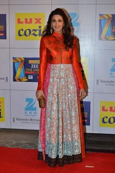 Sonali Bendre in Manish Malhotra's  collection of anarkalis. To view, visit: http://www.vogue.in/content/bollywood-best-dressed-2014-indian-ethnic#37