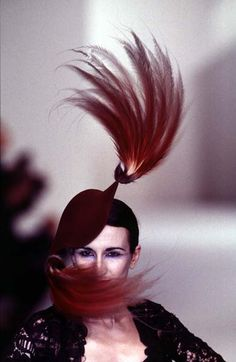 Philip Treacy - Ready-to-Wear - Runway Collection - Women Fall / Winter 1996 Philip Treacy, Close Up, Ready To Wear, Fall Winter, Runway, Collections, Poster, How To Wear, Image