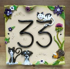 Ceramic House Number Design your Own