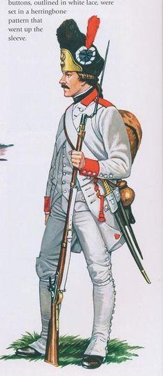 French; Hainault Regiment, Grenadier, in 1779 regulation uniform