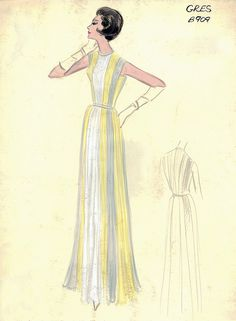 Gres Gown by FIT Library Department of Special Collections, via Flickr