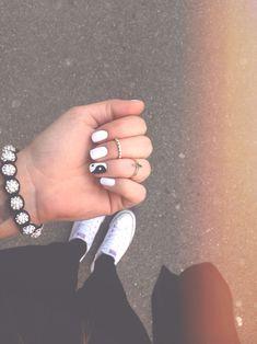 Get Nails, Love Nails, Hair And Nails, Stylish Nails, Trendy Nails, Yin Yang Nails, Nagellack Design, Nagel Gel, Best Acrylic Nails
