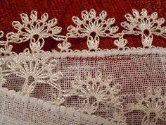 İĞNE OYASI Needle Lace, Bobbin Lace, Thread Crochet, Crochet Stitches, Lace Patterns, Crochet Patterns, Crochet Unique, Tatting Tutorial, Lace Art