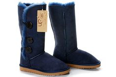 Ugg Bailey Button Triplet Boots 1873 Navy Blue sale