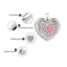 Damen Edelstahlkette Herz mit kristall Steinchen - Copy - Copy - Copy - Copy - Copy Piercing, Heart Ring, Rings, Jewelry, Fashion, Great Gifts, Crystals, Sachets, Stones