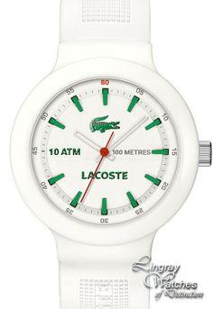 50761582b91ba Lacoste - Mens Borneo Green   White Watch - 2010661 Online price  £75.00 www