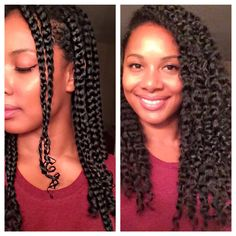 Natural Hair l Defined Braid Out