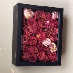 Great idea for the dozens of dried roses I didn't know what to do with!