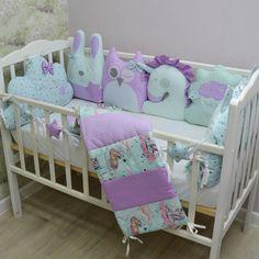 Crib bumpers - Crib bedding set - Baby bed bumper - Crib bedding Cot Bumper Sets, Baby Bumper, Cat And Cloud, Bed Bumpers, Cloud Pillow, Baby Bedding Sets, Mini Crib, Baby Bedroom, Animal Pillows