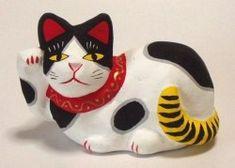 鴨方土人形の招き猫