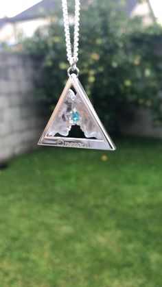 Man to Man Onesoul Silver Pendant with Blue Topaz Gemstone