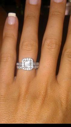 Finally Married! My beautiful wedding ring...complete!! :  wedding 179970 10100329209328804 1548288678 N