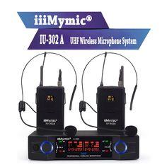 iiiMymic UHF Pro Dual Channel Wireless Microphone 2 Headset Mic System for DJ Karaoke Karaoke, Headset, Consumer Electronics, Dj, Channel, Free Shipping, Wels, Headphones