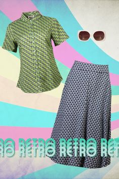 An outfit that expresses our inner retro diva 🤩 Get this look 👇 The Jenna Heart Print Shirt bit.ly/3hc4zXi The Moa Pineapple Skirt bit.ly/3dkgK1U Chelsea Sunglasses bit.ly/3o5sfxK Vintage Style Outfits, Vintage Dresses, Vintage Fashion, Good Earth India, Irish Design, Made Clothing, Blouse Online, Heart Print, Printed Shirts