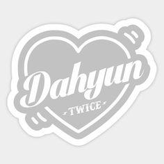Twice Bias Dahyun - Twice Kpop - Sticker Bullet Journal Notes, Bullet Journal Aesthetic, Pop Stickers, Printable Stickers, Logo Twice, Kpop Diy, Twice Fanart, Overlays, Twice Kpop