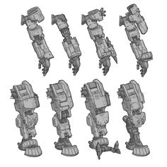 Sketches and designs for the first Titanfall game. Arte Robot, Robot Art, Robot Concept Art, Armor Concept, Robot Sketch, Titanfall Game, Armored Core, Big Robots, Armadura Medieval