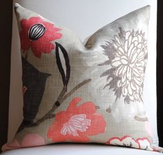 floral pillows for living room