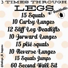 LEGS.  Lower Body Workout https://instagram.com/haleya_fit_happens/