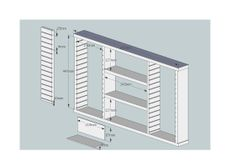 diagrams for building an ink pad holder from Pineboard/Furniture Board