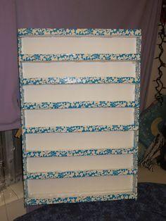 DIY Foam board Nail Polish Rack
