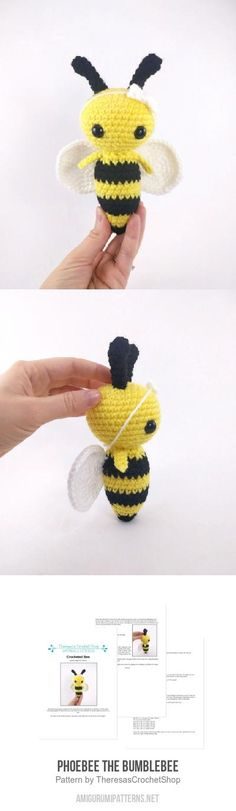Phoebee The Bumblebee Amigurumi Pattern