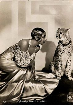 In addition to her Nazi-fighting badassery, Josephine Baker also had a pet leopard. Or jaguar. Whatever it was, she actually had that thing and walked around Paris with it on a leash. In conclusion: BADASS.#Repin By:Pinterest++ for iPad#