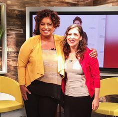 Behind the scenes with Mayim Bialik and Michaela Pereira at HLN's MICHAELA!