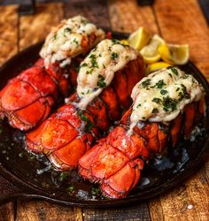"""I have mastered Broiled Lobster Tails.just in time for Valentine's Day! This recipe is """"no-fail!"""" Link in bio! dinner surf and turf Quick Recipes, Quick Easy Meals, Fish Recipes, Seafood Recipes, Clam Recipes, Dinner Recipes, Cooking Recipes, Pesto Grilled Shrimp, Grilled Oysters"""