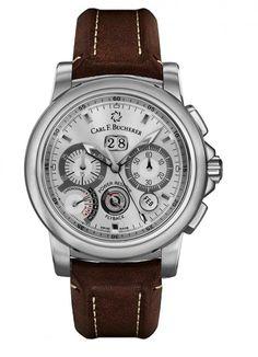 Carl F. Bucherer 00.10623.08.63.01 Patravi ChronoGrade - швейцарские мужские часы наручные, стальные, белые