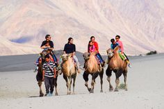 Nubra valley - local scholars say that its original name was Ldumra (the valley of flowers). The Shyok River meets the Nubra or Siachan River to form a large valley that separates the Ladakh and Karakoram Ranges.   Enjoy traveling to picturesque Leh-Ladakh. Send us your queries info@boutindia.com | +1 616-723-8501   #travel #boutindia #lehladakh #nubravalley #adventuretour #camelsafari #doublehumpedcamel #bactriancamel #tourism #tourindia #trip #vacation