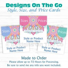 Style, Size, and Price Collage Cards 5x5 - Independent Consultant - Made To Order - Custom with Name - Facebook Album Cover - Branding - DIY