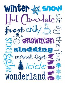 Winter printable ... so cute!  :)