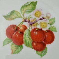 Hutschenreuther Selb   Fruit Pattern, Cherries, Salad Plate, Favorit