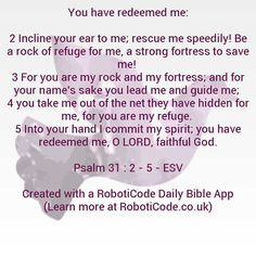 """#Bible verse found with """"Uplifting Psalms Daily"""" for Android, iPhone and Kindle Fire! http://www.roboticode.co.uk"""
