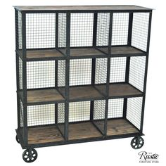 Industrial Metal And Wood Bookcase By Crestview Collection from The Rustic Furniture Store. Saved to Things I want as gifts. Industrial Bedroom Furniture, Industrial Chic Decor, Rustic Furniture Stores, Industrial Interior Design, Industrial Shelving, Industrial House, Home Furniture, Wooden Furniture, Antique Furniture