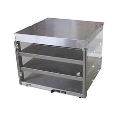 "AdCraft Stainless Steel 16"" Pizza Merchandiser Food Warmer PW-16"