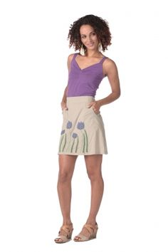 Tulip Pocket Skirt in Rock