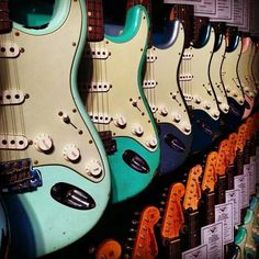 Vintage Stratocasters..Nuff said.