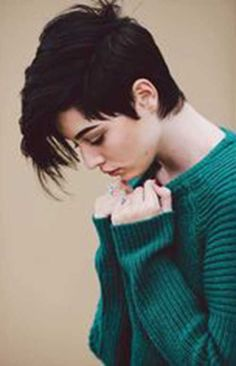 16.Asymmetrical Pixie Cut