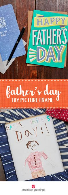 A tie is a classic Father's Day present. However, this year give this gift with a creative twist thanks to this handmade present idea for a DIY Tie-Wrapped Picture Frame. When you showcase your kids' artwork inside and pair it with a sentimental greeting card from Target, this thoughtful gift will really show your husband how much his family appreciates him.