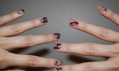lace nails diy
